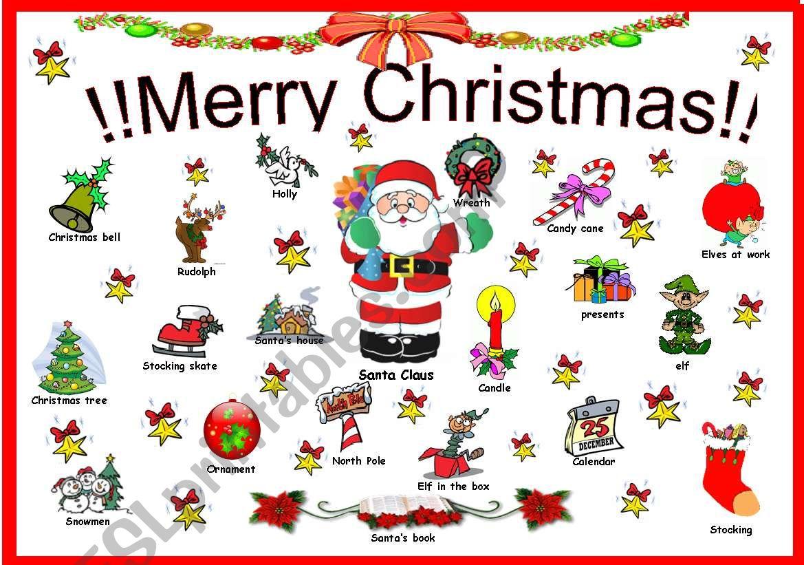 Christmas wall poster worksheet