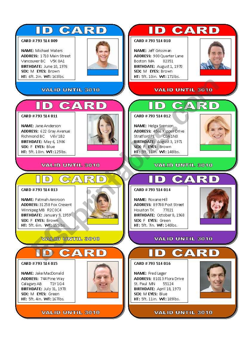 Whose Wallet is This Conversation Task  Part 2 of 3 (16 Cards, Wallet Items, Activities and Links)
