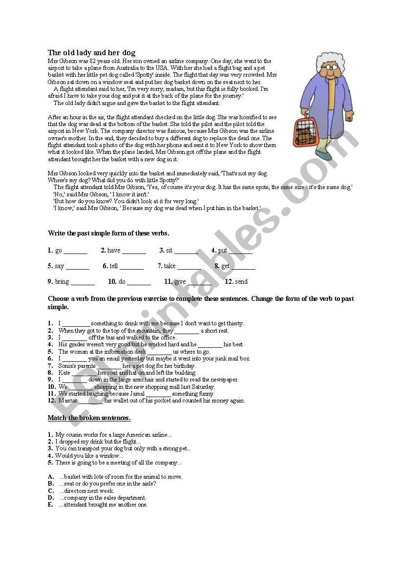Anegdote- present simple worksheet