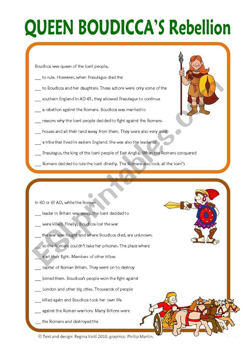 worksheet Boudicca Worksheet english worksheets early london queen rebellion reading comprehension key