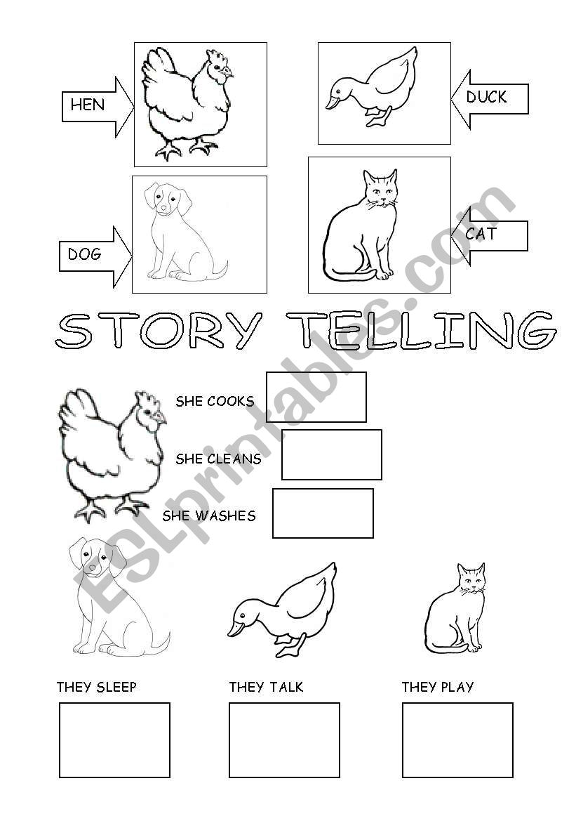 little red hen story book printable