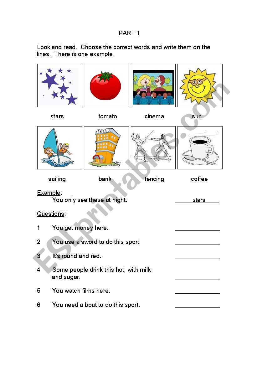 pet reading and writing practice tests pdf