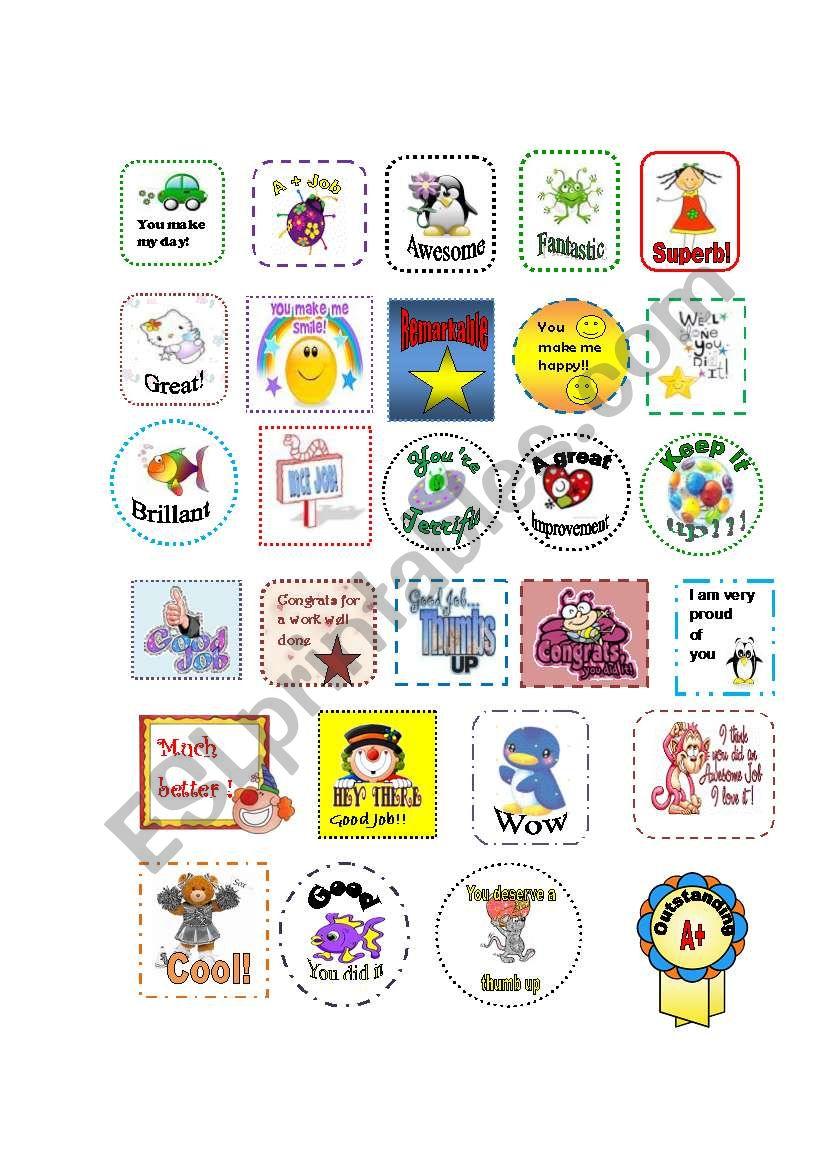 Awards (Editable) worksheet