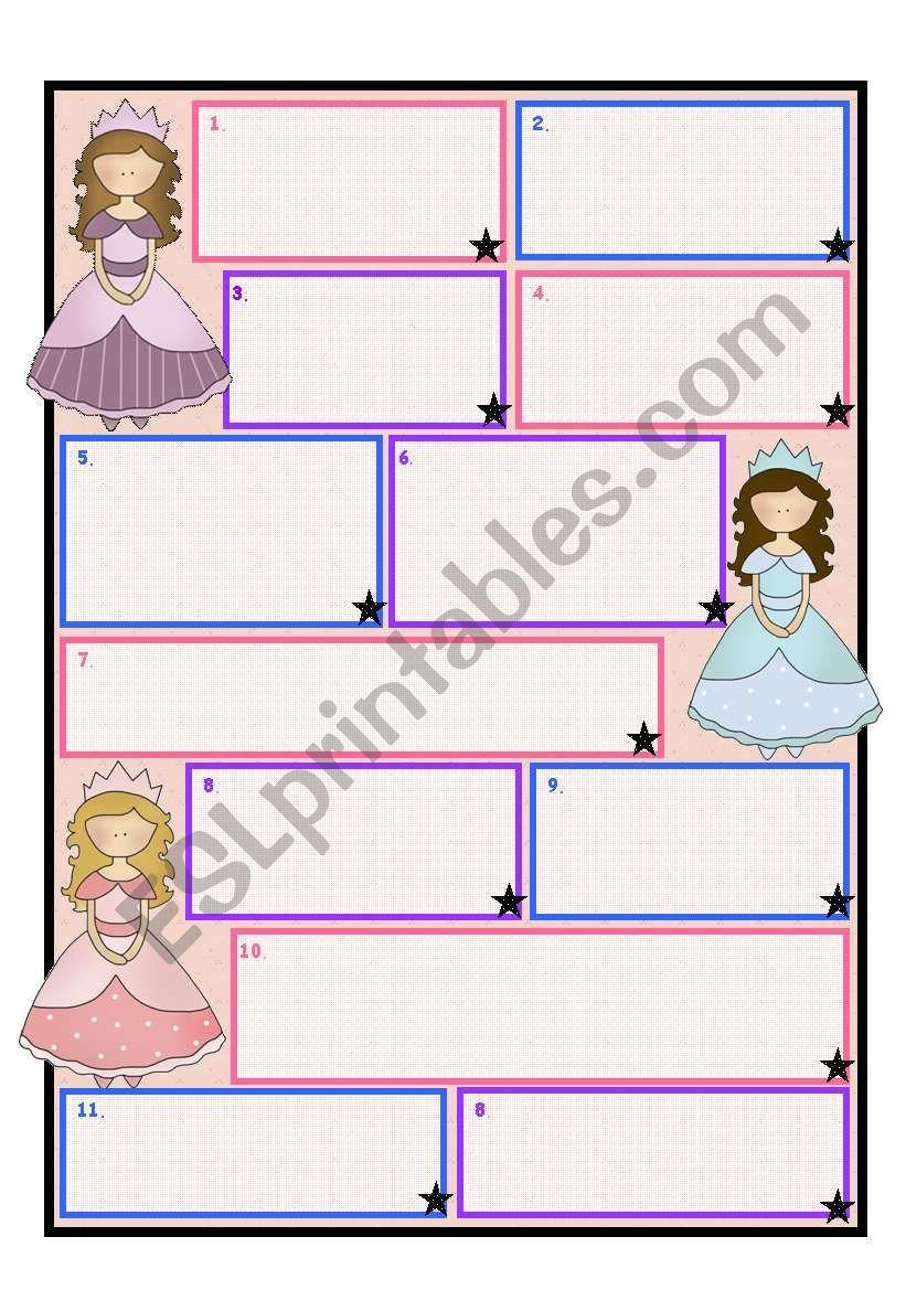 Princess/ Fairy Template worksheet