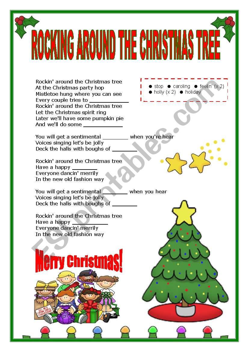 Rockin Around Christmas Tree.Xmas Song Rocking Around The Christmas Tree Filling The