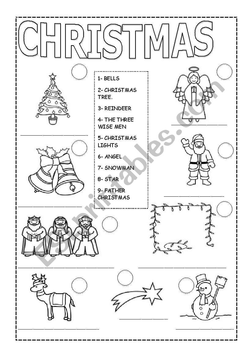 CHRISTMAS MATCHING. worksheet