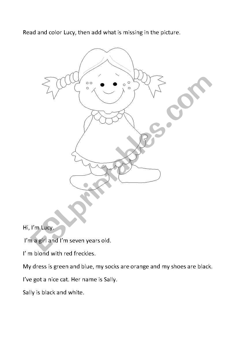 Lucy´clothes worksheet