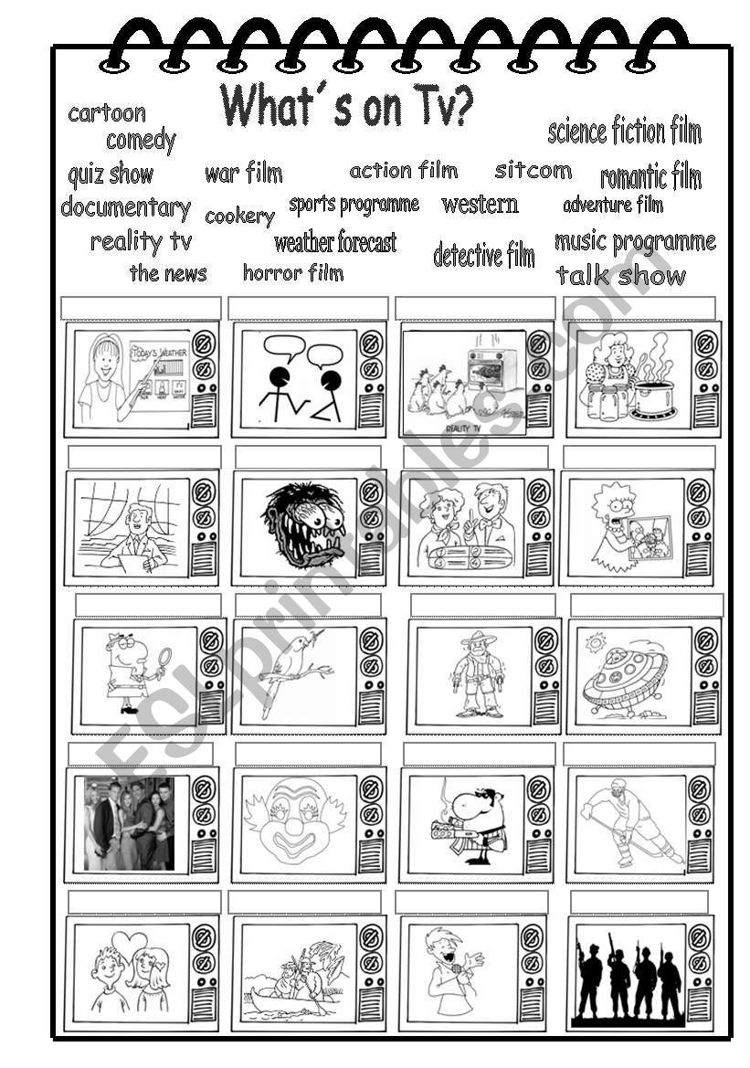 What´s on TV ? worksheet