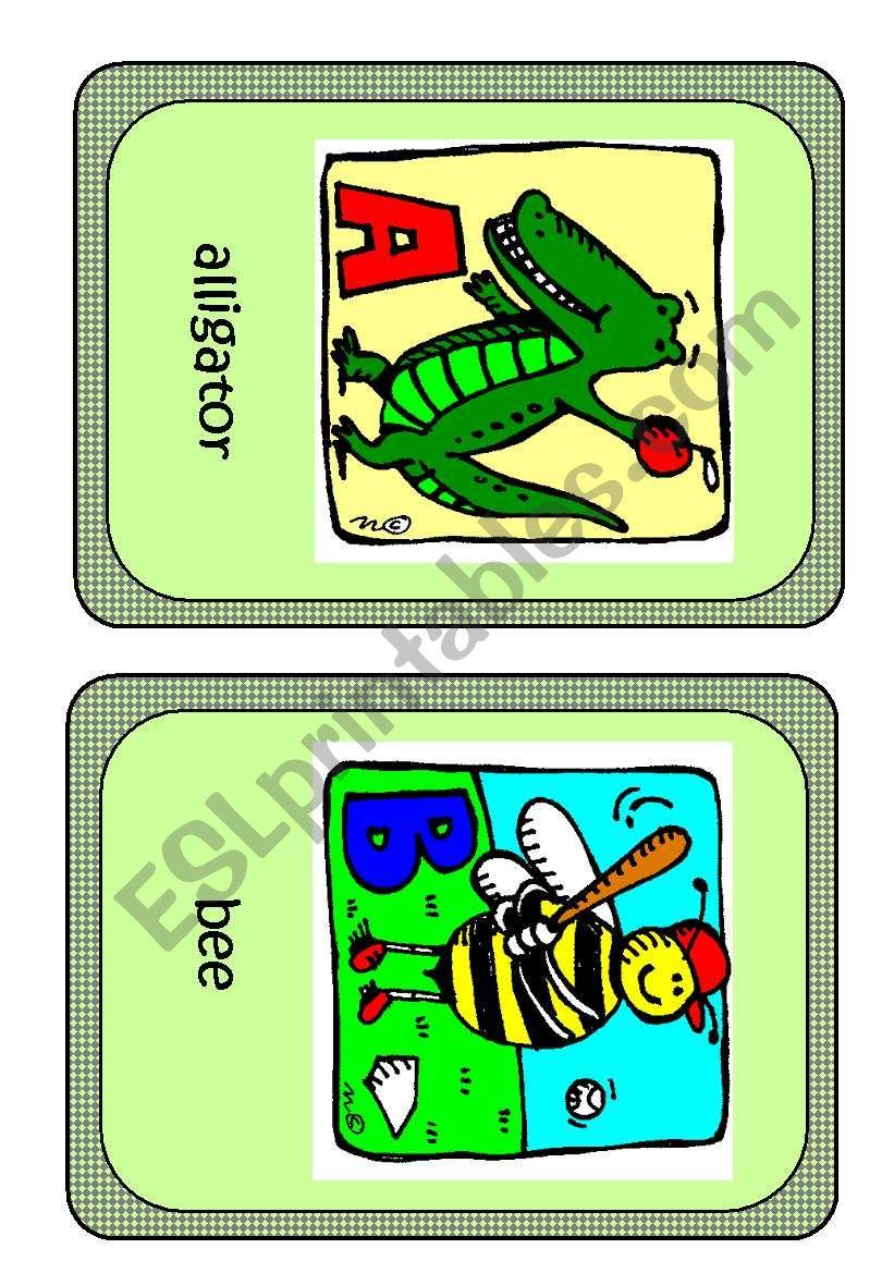 Alphabet flashcards worksheet