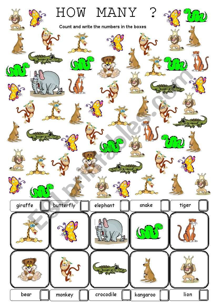 wild animals how many are there?