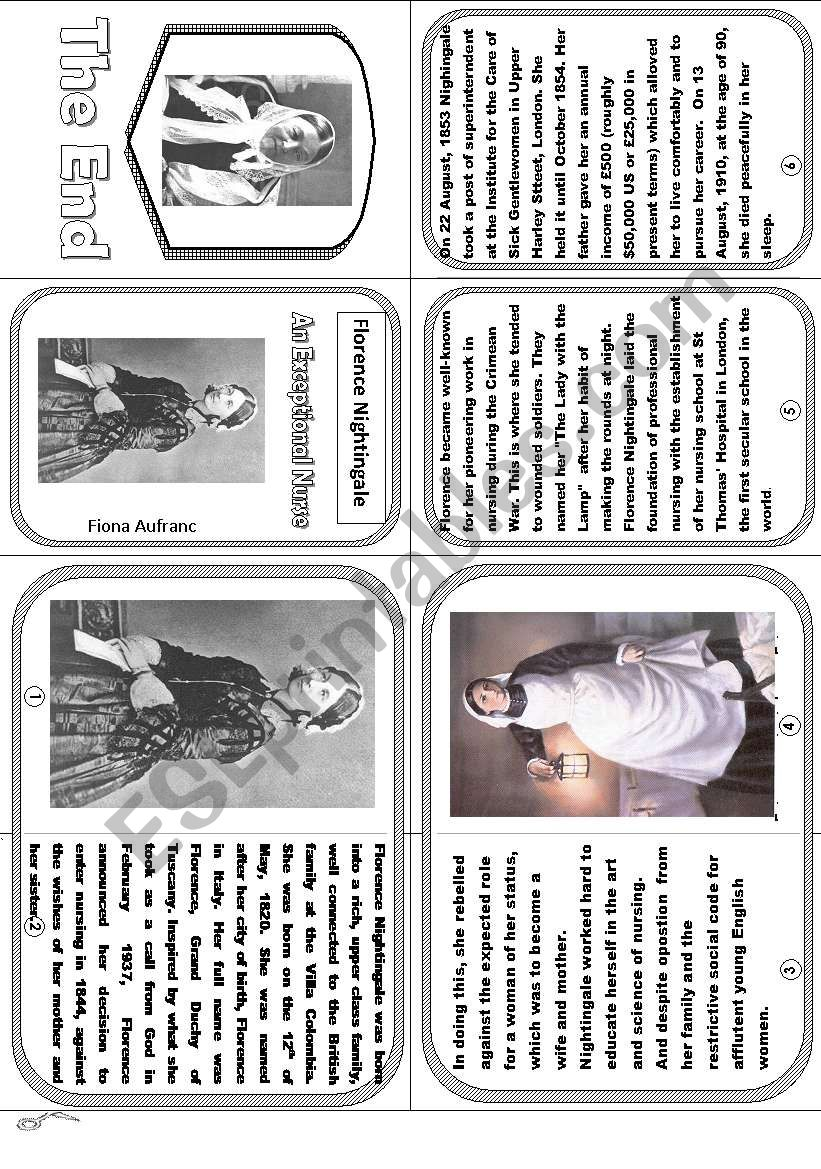 Florence Nightingale worksheet