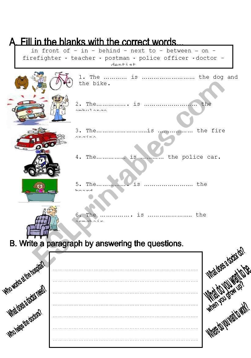 - Jobs Worksheet Grade 2 - ESL Worksheet By Toygun