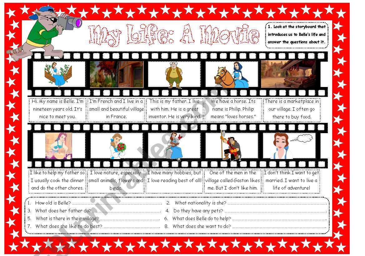 My Life: A Movie worksheet