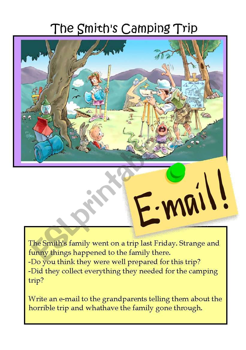 The Smith´s Camping trip worksheet