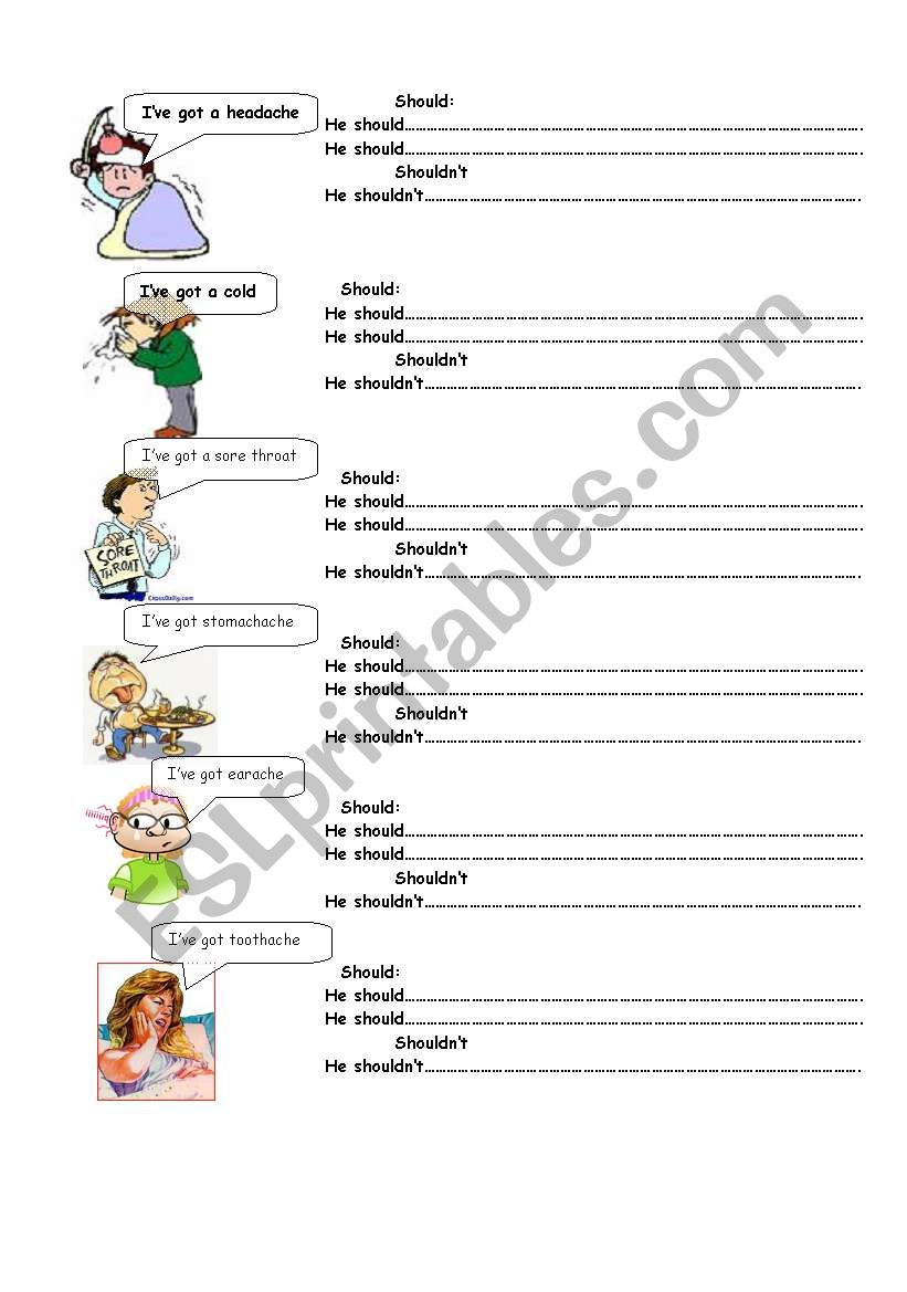ILLNESS AND ADVICES(3/3) worksheet