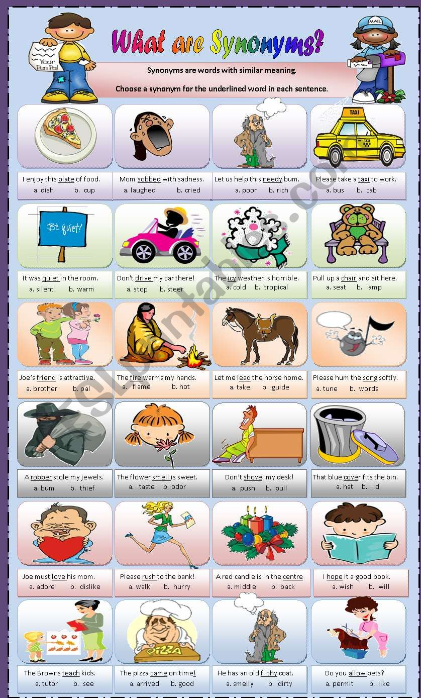 Synonyms **** editable***** worksheet