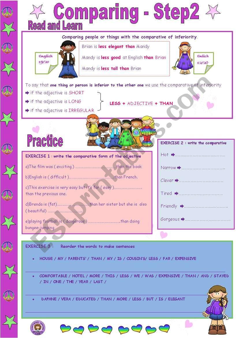 COMPARING - Step 2 worksheet