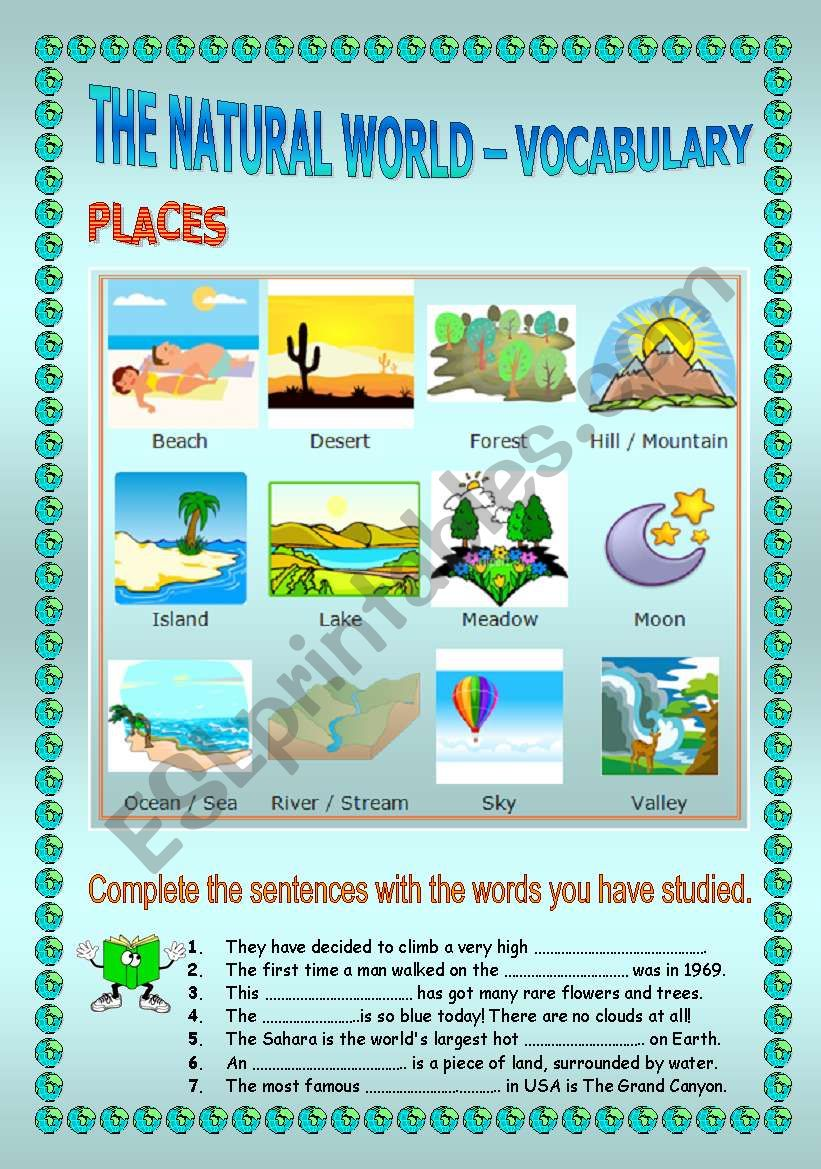 The Natural World - vocabulary