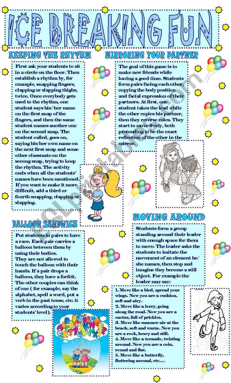 MOVEMENT GAMES FOR CHILDREN/ ICE BREAKING FUN