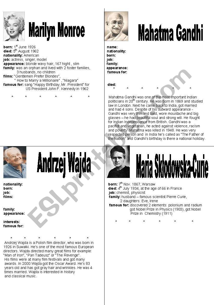 Short biography of famous people cheap homework ghostwriting site for phd