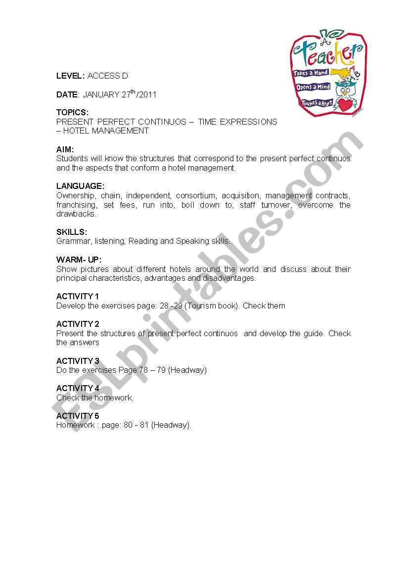 LESSON PLAN 4 worksheet