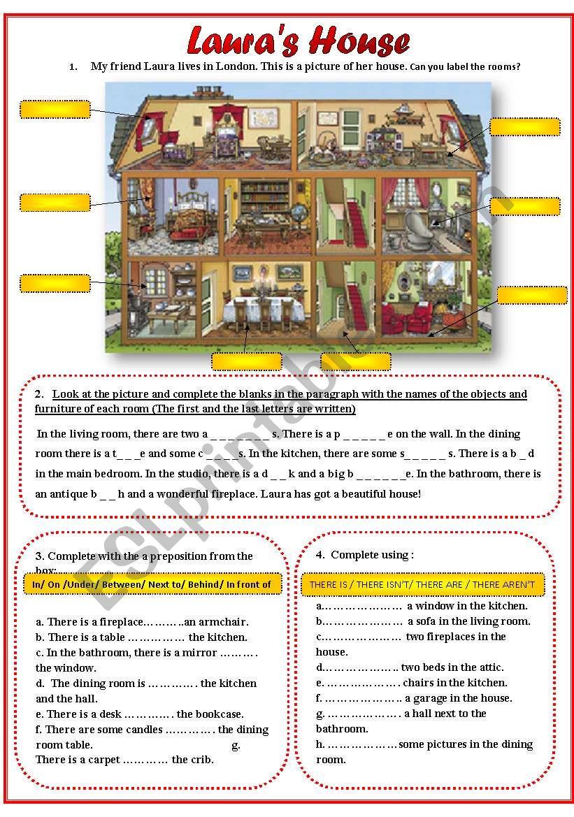 Laura´s House worksheet