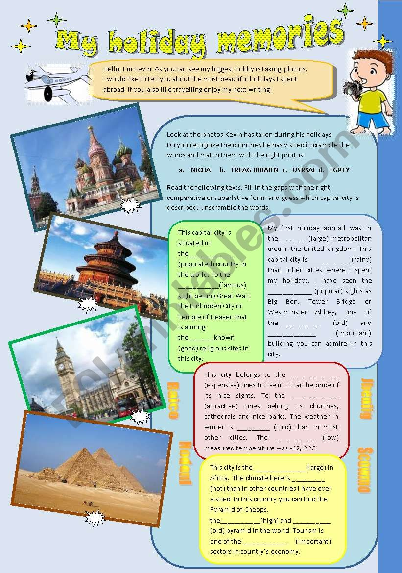 *** My holiday memories *** - comparison of adjectives