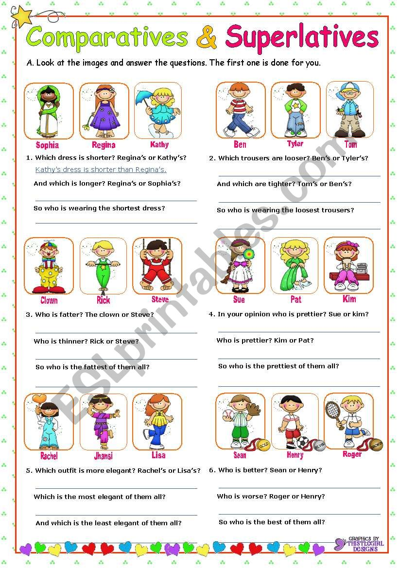 Adjectives  -  Comparatives and Superlatives
