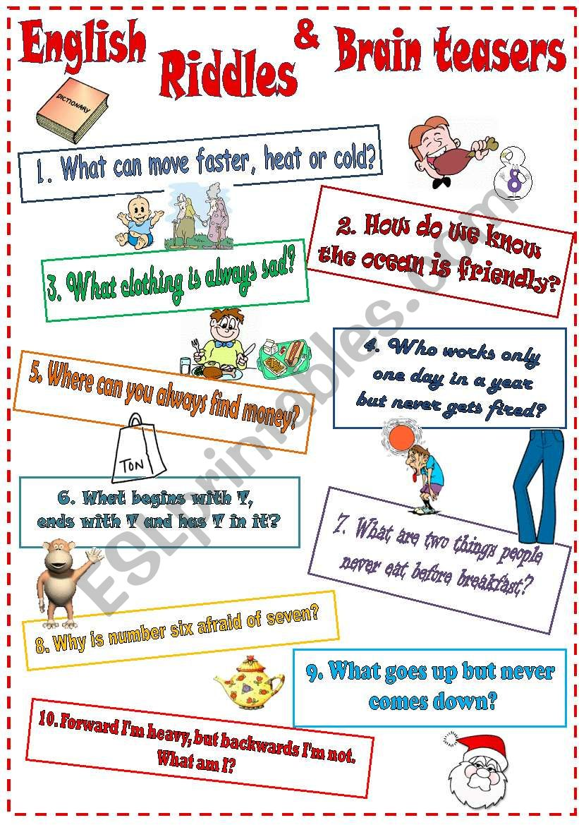 English riddles & brain teasers *B&W*