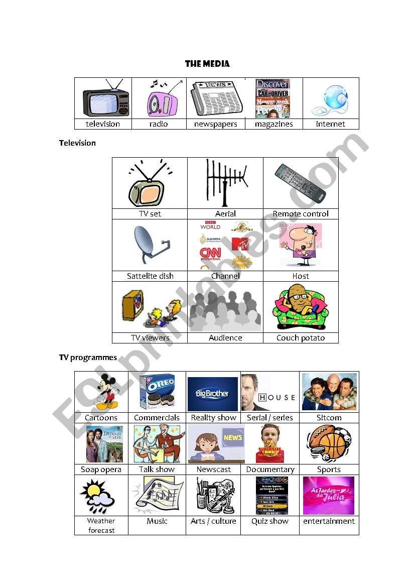 The Media worksheet