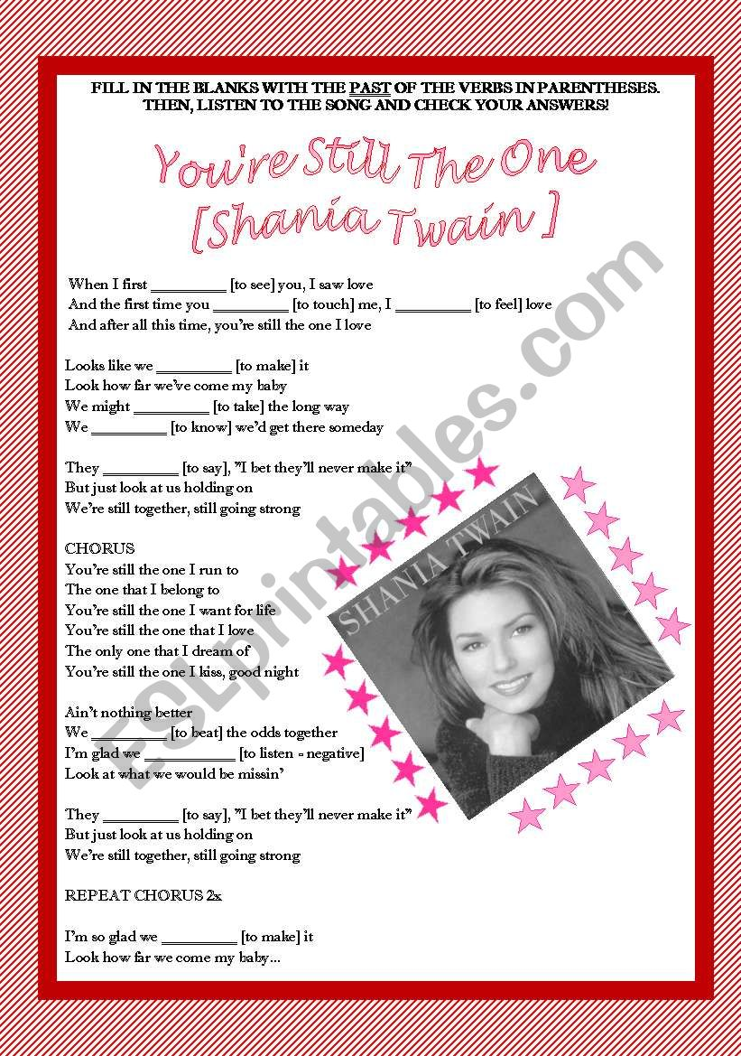 Song activity - Shania Twain - You´re still the one