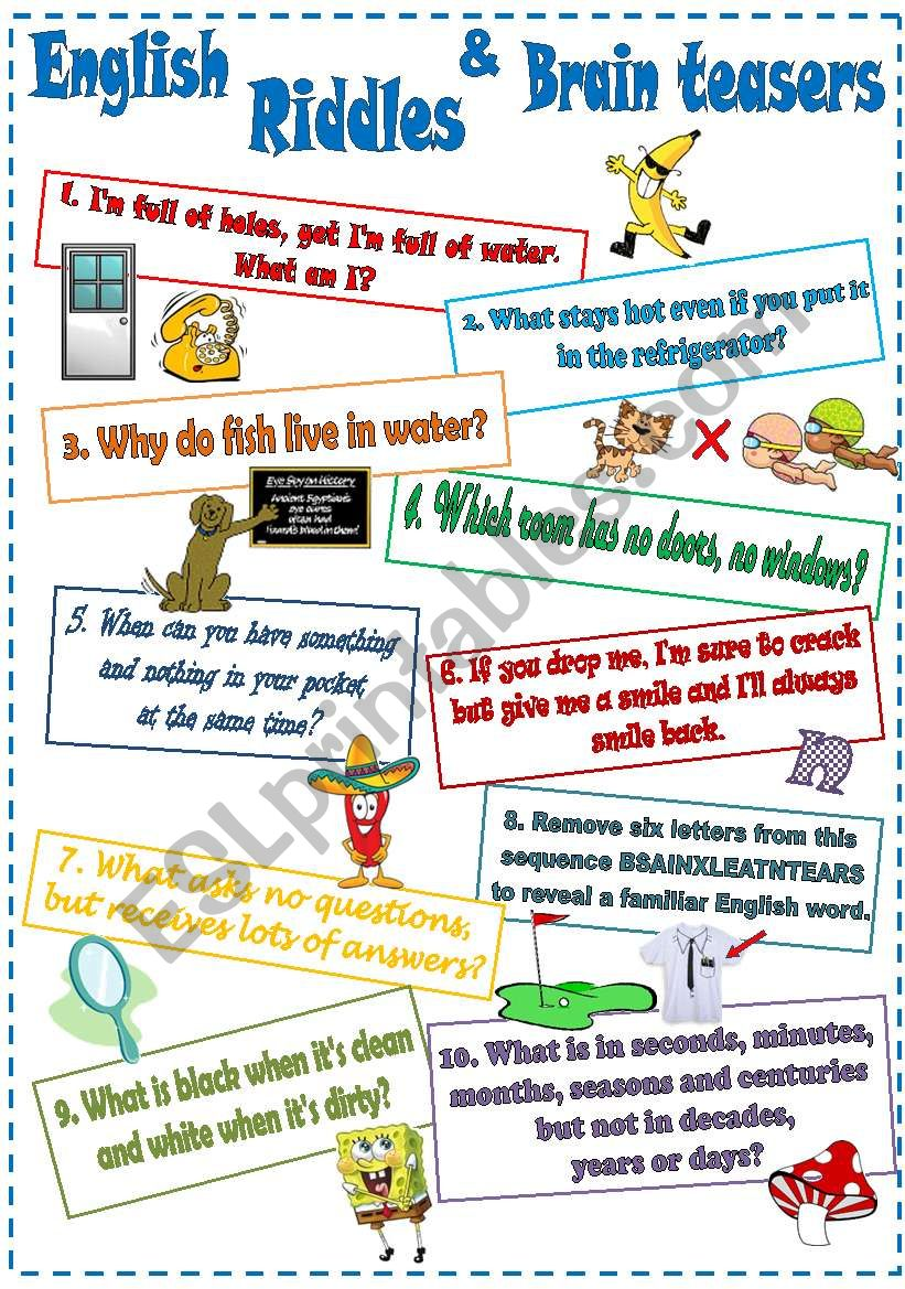 English Riddles and Brain teasers (2)