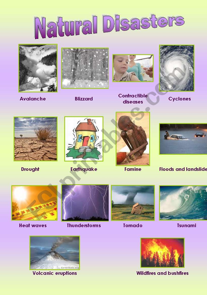 Natural Disasters + Exercises (FULL EDITABLED)