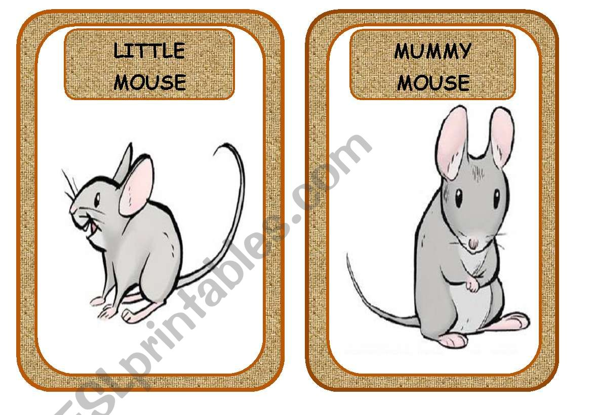 LITTLE READERS 1: DEAR LITTLE MOUSE.(6 FLASHCARDS)