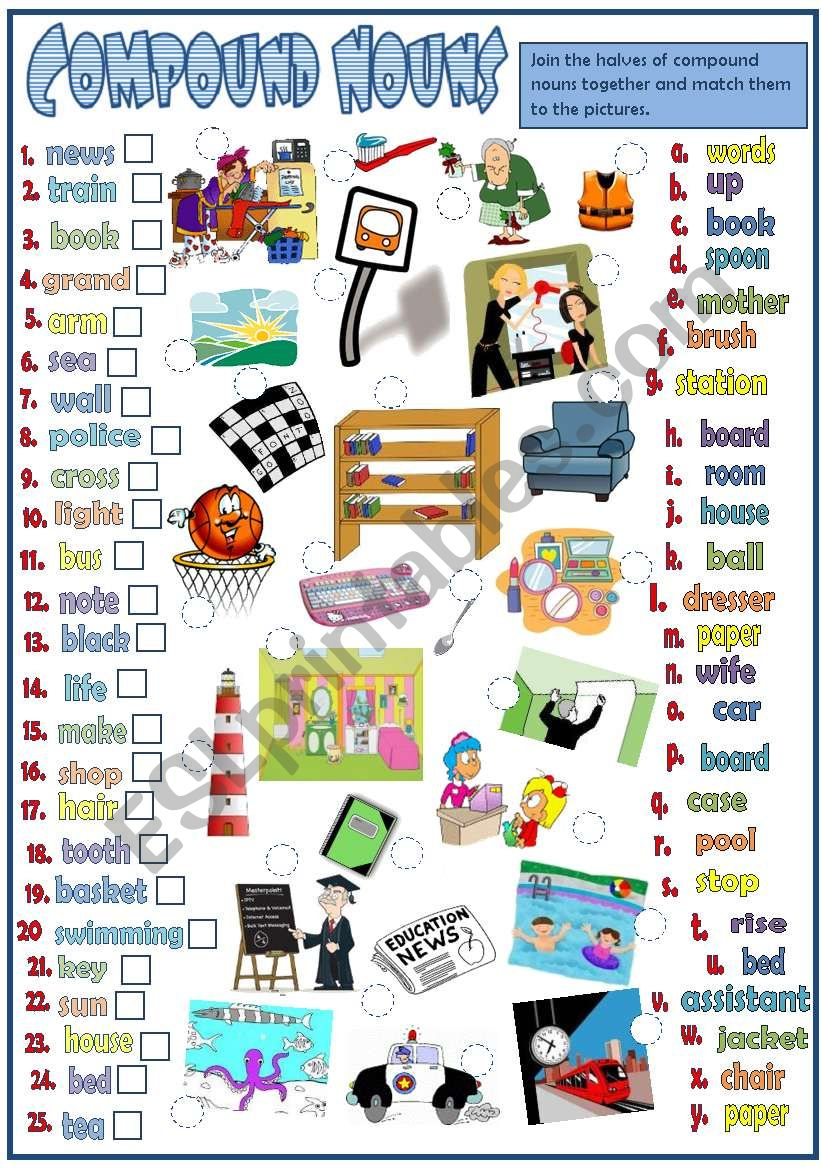 Compounds Nouns *B&W* worksheet