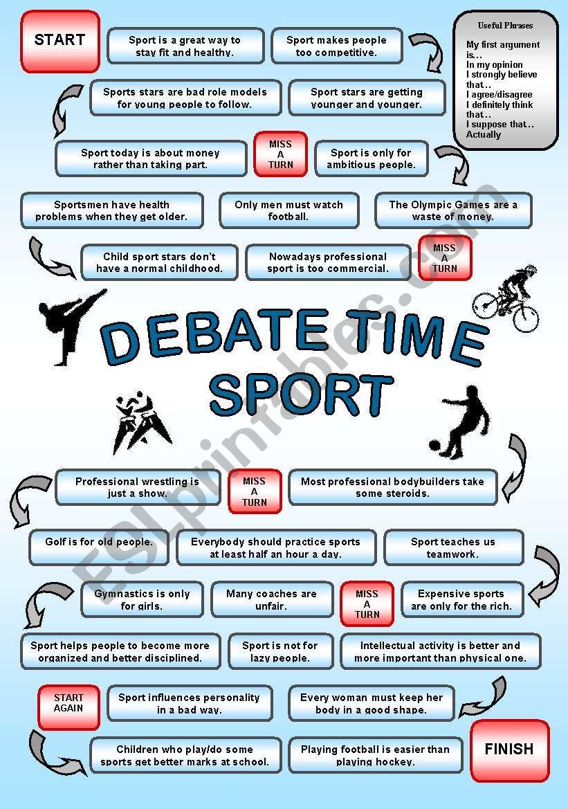 Debate time SPORT worksheet