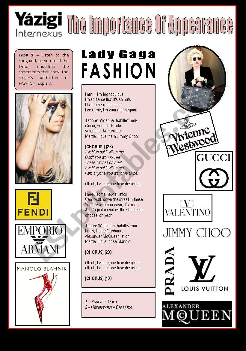 Song - FASHION (By Lady Gaga) - The Importance Of Appearance