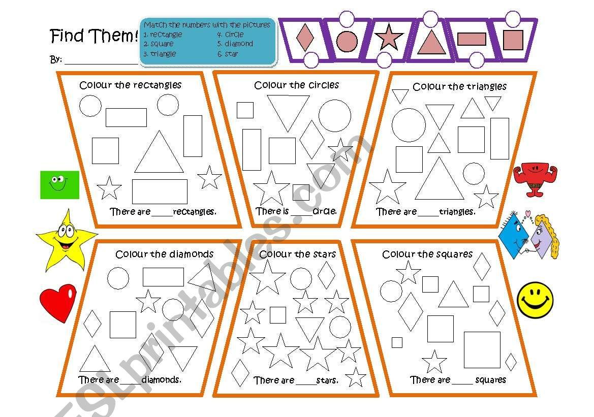 Find the Shapes worksheet
