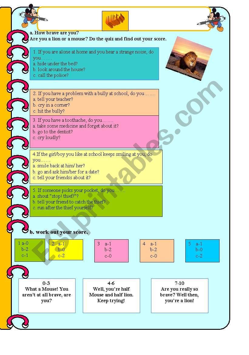 if quiz worksheet