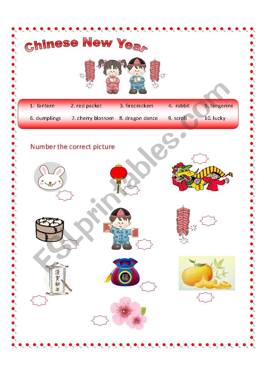 chinese new year vocabulary esl worksheet by allbright. Black Bedroom Furniture Sets. Home Design Ideas