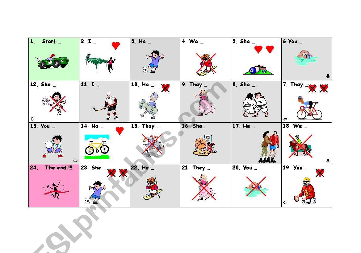 Expressing tastes board game worksheet
