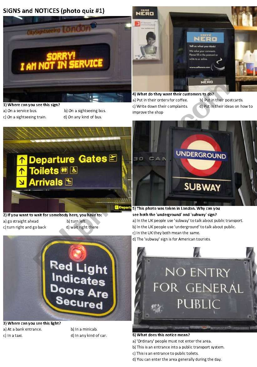 SIGNS AND NOTICES #1 (10 photos on 2 pages)