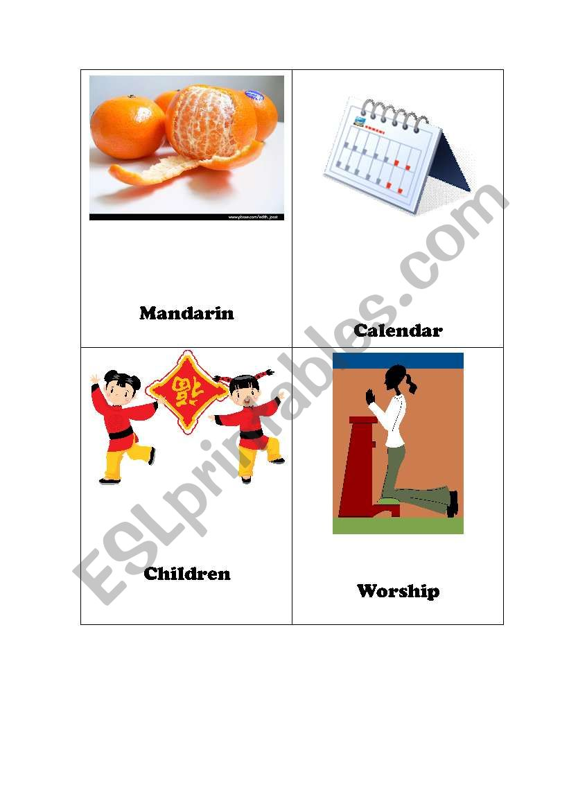 chinese lunar new year flash cards set 2 of 2