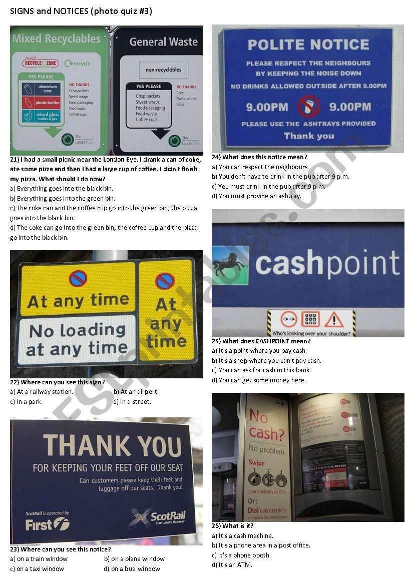 SIGNS AND NOTICES #3 (10 photos on 2 pages)