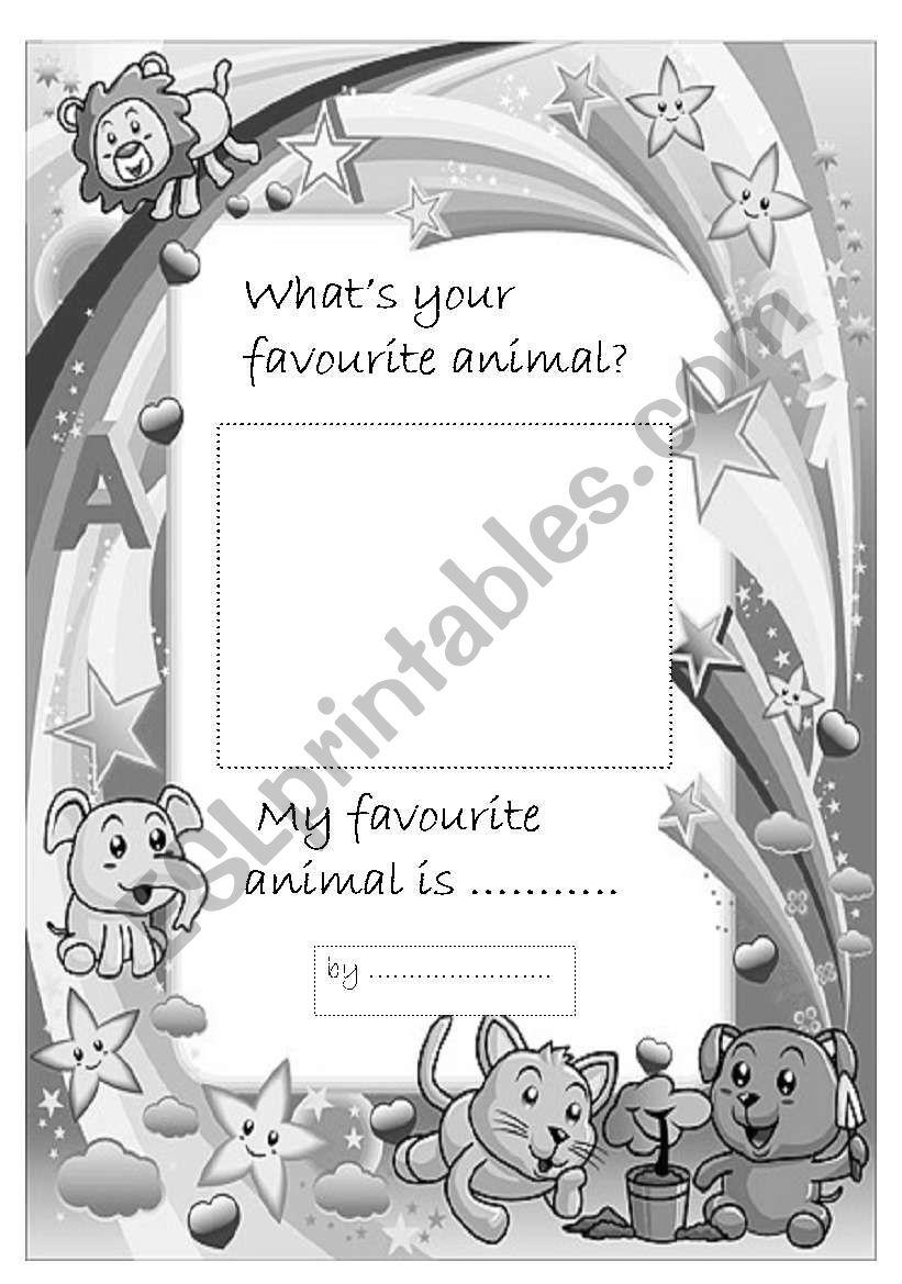 Favorite animal- portfolio page