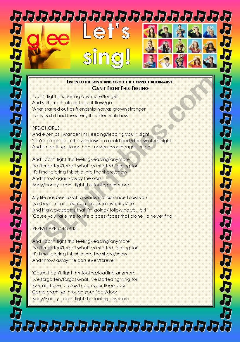 GLEE SERIES – SONGS FOR CLASS! S01E01 – FOUR SONGS – FULLY EDITABLE WITH KEY!