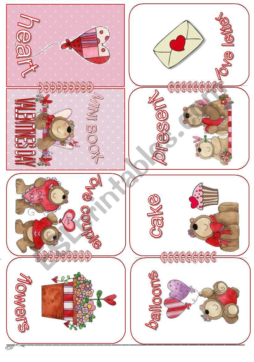 Valentine´s Day Mini Book worksheet