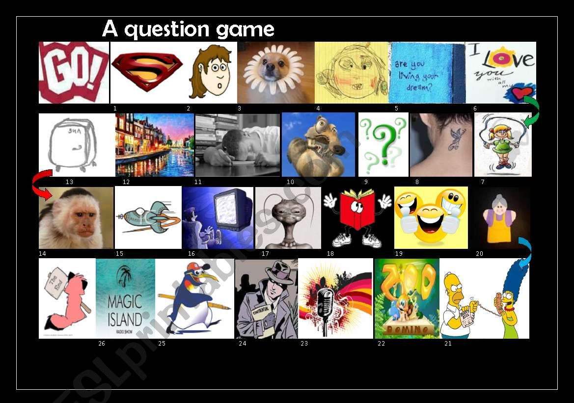 Question Game worksheet