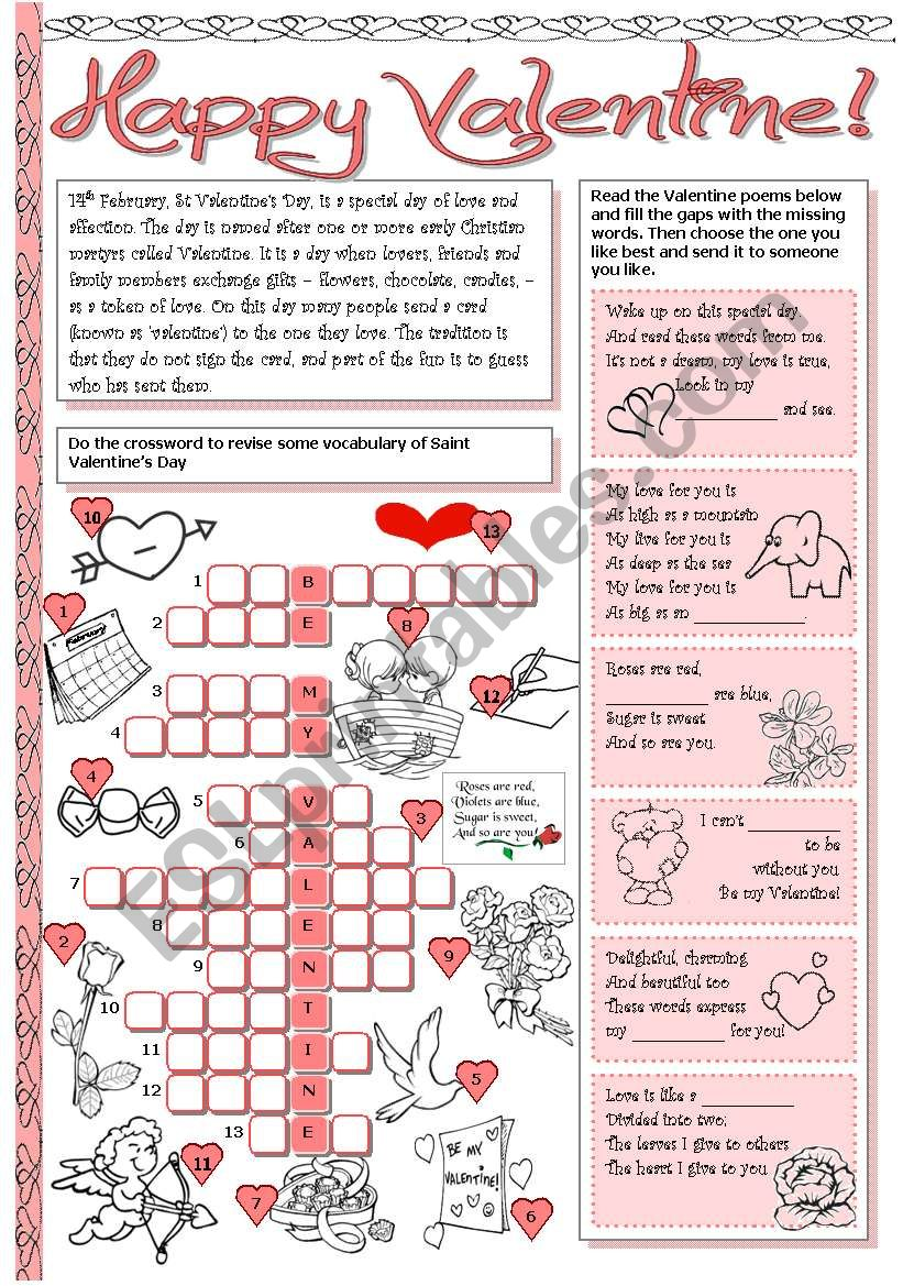Happy Valentine! worksheet
