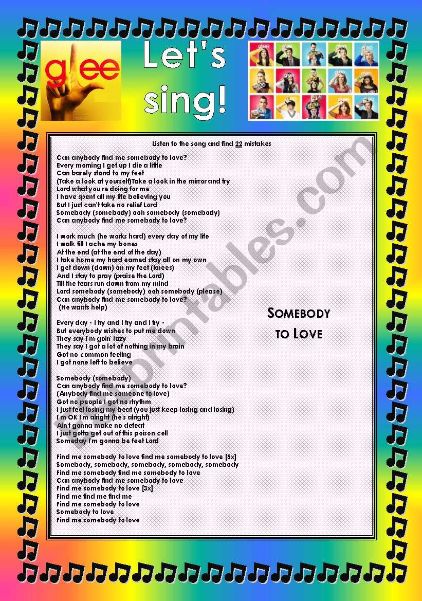 GLEE SERIES – SONGS FOR CLASS! S01E05 – FOUR SONGS – FULLY EDITABLE WITH KEY!